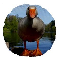 Geese 18  Premium Round Cushion  by Siebenhuehner