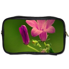 Campanula Close Up Travel Toiletry Bag (one Side) by Siebenhuehner