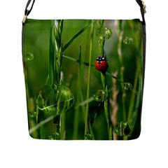 Ladybird Flap Closure Messenger Bag (Large)