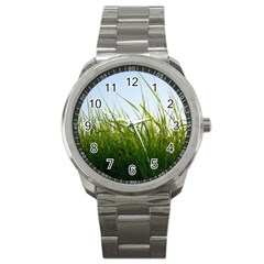 Grass Sport Metal Watch by Siebenhuehner