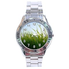 Grass Stainless Steel Watch (men s) by Siebenhuehner