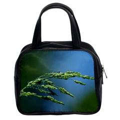 Waterdrops Classic Handbag (two Sides) by Siebenhuehner