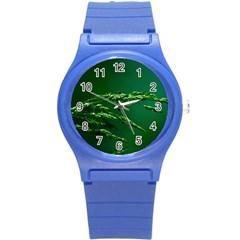 Waterdrops Plastic Sport Watch (small) by Siebenhuehner