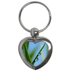 Waterdrops Key Chain (heart) by Siebenhuehner