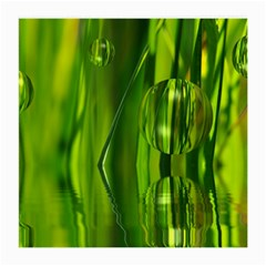 Green Bubbles  Glasses Cloth (medium, Two Sided) by Siebenhuehner