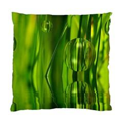 Green Bubbles  Cushion Case (single Sided)  by Siebenhuehner