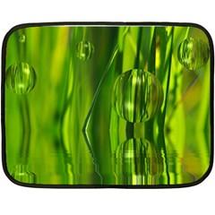 Green Bubbles  Mini Fleece Blanket (two Sided) by Siebenhuehner