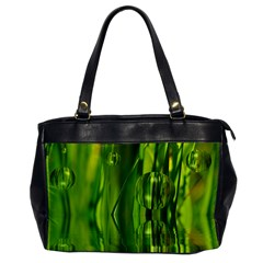 Green Bubbles  Oversize Office Handbag (one Side) by Siebenhuehner