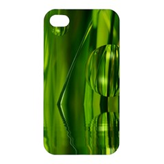 Green Bubbles  Apple Iphone 4/4s Hardshell Case by Siebenhuehner