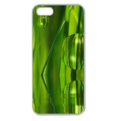 Green Bubbles  Apple Seamless Iphone 5 Case (clear) by Siebenhuehner