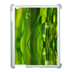Green Bubbles  Apple Ipad 3/4 Case (white) by Siebenhuehner