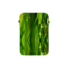 Green Bubbles  Apple Ipad Mini Protective Soft Case by Siebenhuehner