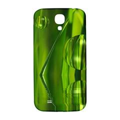 Green Bubbles  Samsung Galaxy S4 I9500/i9505  Hardshell Back Case by Siebenhuehner