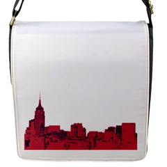 Skyline Flap Closure Messenger Bag (small) by PaolAllen