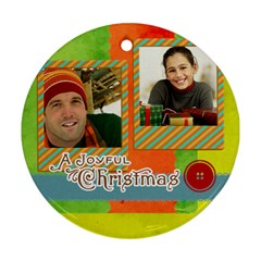 Merry Christmas By Merry Christmas   Round Ornament (two Sides)   17s1kpp2nhr1   Www Artscow Com Back