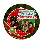 merry christmas - Round Ornament (Two Sides)