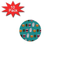 Time For Coffee 1  Mini Button (10 Pack) by PaolAllen
