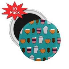 Time For Coffee 2 25  Button Magnet (10 Pack) by PaolAllen