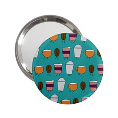 Time for coffee Handbag Mirror (2.25 ) by PaolAllen