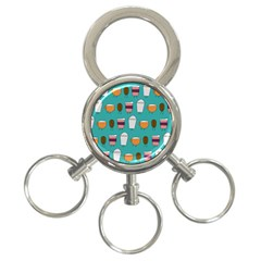 Time for coffee 3-Ring Key Chain by PaolAllen