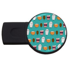 Time for coffee 4GB USB Flash Drive (Round) by PaolAllen