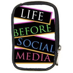 Life Before Social Media Compact Camera Leather Case by PaolAllen