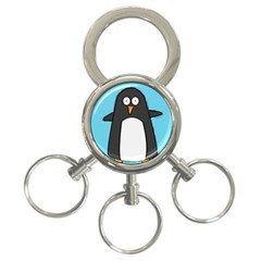 Hello Penguin 3-Ring Key Chain by PaolAllen