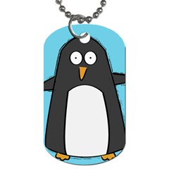 Hello Penguin Dog Tag (one Sided) by PaolAllen