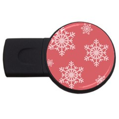 Let It Snow 2gb Usb Flash Drive (round) by PaolAllen