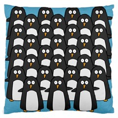Penguin Group Large Cushion Case (single Sided)  by PaolAllen