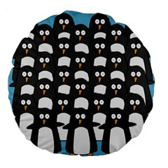 Penguin Group 18  Premium Round Cushion  by PaolAllen