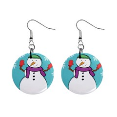 Snowman Mini Button Earrings by PaolAllen