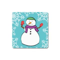 Snowman Magnet (square) by PaolAllen