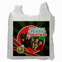 Merry Christmas By Merry Christmas   Recycle Bag (two Side)   746pf3geqylm   Www Artscow Com Back