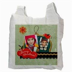 Merry Christmas By Merry Christmas   Recycle Bag (two Side)   Bjmefapg1q42   Www Artscow Com Back