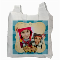 Merry Christmas By Merry Christmas   Recycle Bag (two Side)   Jspbownyzoym   Www Artscow Com Back