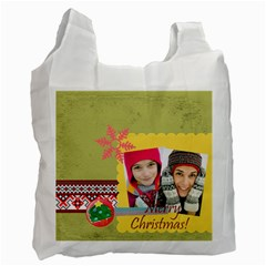 Merry Christmas By Merry Christmas   Recycle Bag (two Side)   Igcje74gjo5n   Www Artscow Com Front