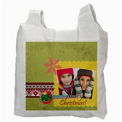 Merry Christmas By Merry Christmas   Recycle Bag (two Side)   Igcje74gjo5n   Www Artscow Com Back