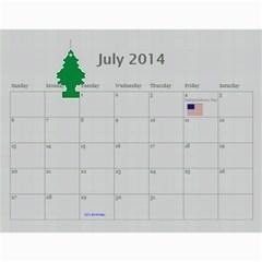 Dean By Lori Johnstone   Wall Calendar 11  X 8 5  (12 Months)   Tyerfhg061gi   Www Artscow Com Jul 2014