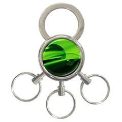 Green Drop 3 Ring Key Chain by Siebenhuehner