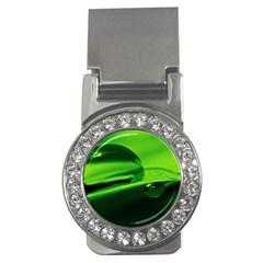 Green Drop Money Clip (cz) by Siebenhuehner