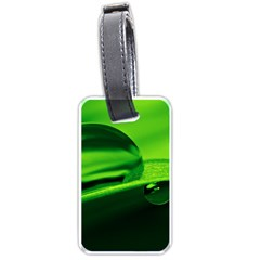 Green Drop Luggage Tag (two Sides) by Siebenhuehner