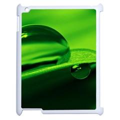 Green Drop Apple Ipad 2 Case (white) by Siebenhuehner