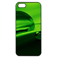Green Drop Apple Iphone 5 Seamless Case (black) by Siebenhuehner