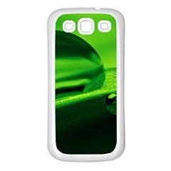 Green Drop Samsung Galaxy S3 Back Case (white) by Siebenhuehner