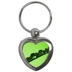 Green Drops Key Chain (heart) by Siebenhuehner