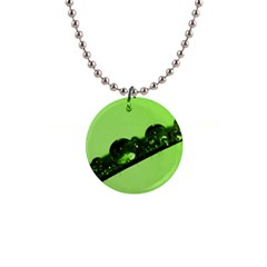 Green Drops Button Necklace