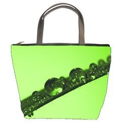 Green Drops Bucket Bag by Siebenhuehner