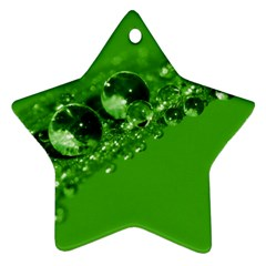 Green Drops Star Ornament (two Sides) by Siebenhuehner