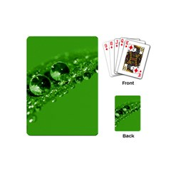 Green Drops Playing Cards (mini) by Siebenhuehner